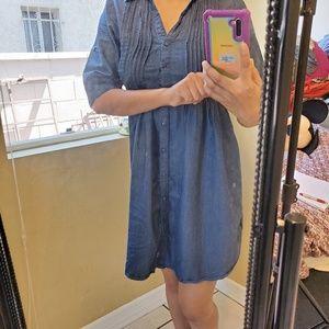 Denim Blue half sleeve Dress Sz M (1)